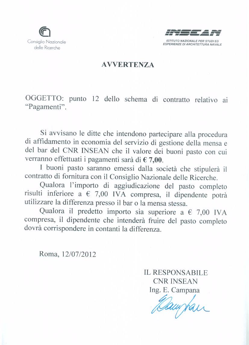 Urp of national research council for Esempio di preventivo impianto elettrico